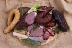 Wurstmischung in einem portugiesischen traditionellen umgebenden Lizenzfreies Stockbild