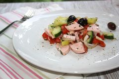 Wurstsalat - Sausage salad royalty free stock images