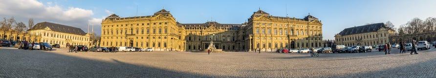 Wurtzbourg, Allemagne - 18 février 2018 : Vue de face du palais royal de résidence à Wurtzbourg photographie stock