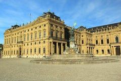 Wurtzbourg - borne limite de résidence images stock