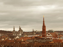 Wurzburg Cathedral and City Hall Stock Photo