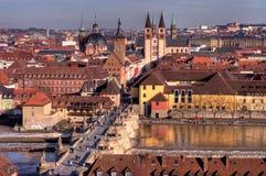 Wurzburg da sopra Immagini Stock Libere da Diritti