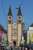 WURZBURG, GERMANIA - 5 maggio 2018: Cattedrale di Wurzburg e Fotografie Stock Libere da Diritti