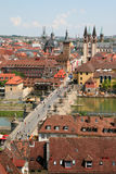 Wurzburg, Germany. City of Wurzburg and bridge in Bavaria, Germany Stock Image
