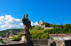 Wurzburg. Germany, Romantic road, river Main Stock Photos
