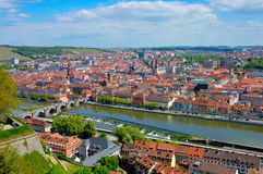 Wurzburg. Germany, Romantic road, river Main Stock Photography