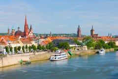 Wurzburg i en solig sommardag Arkivbild