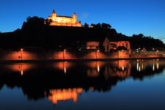 Wurzburg at night Royalty Free Stock Photos