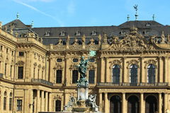 Wurzburg Residence detail. The detail of Residence palace in Wurzburg, Germany stock photo
