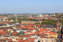 Wurzburg residence and historic city, Bavaria, Germany Stock Image