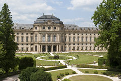 Wurzburg residence. The Wurzburg residence (Wurzburger residenz in German) with his beautifull garden royalty free stock images