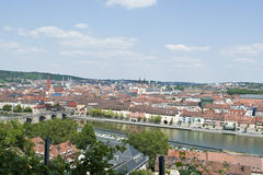 Wurzburg skyline Stock Photo