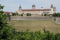 Wurzburg slottTyskland Arkivbilder