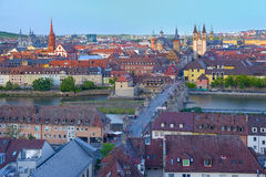 Wurzburg in a summer evening Royalty Free Stock Photo