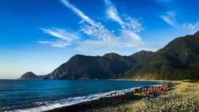 Wushibi en Donghe-kust stock afbeeldingen