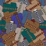Wushu clothing pattern. Seamless vector illustration Royalty Free Stock Photos