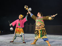 "Wushu competition hammer-Children's Beijing Opera""Yue teenager"" Royalty Free Stock Images"