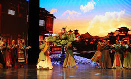 "Wushu Competition-Large scale scenarios show"" The road legend"" Stock Images"