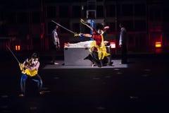 Wushu Dance Royalty Free Stock Photography
