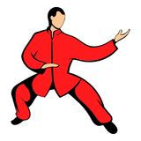 Wushu fighter icon cartoon Stock Photo