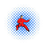 Wushu fighter icon in comics style Stock Photo