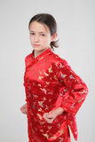 Wushu girl Stock Photos