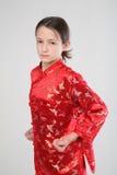 Wushu girl stock photos