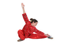 Wushu girl training 2 Royalty Free Stock Photo