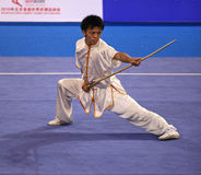 Wushu gun shu performance Royalty Free Stock Images