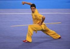 Wushu gun shu performance Royalty Free Stock Image