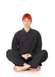 Wushu Woman Meditation Stock Image
