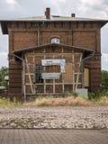 Wusterhausen-Bahnhofsgebaeude stock photos