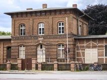Wusterhausen-Bahnhofshaus royalty free stock photos