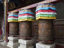 Wutai Mountain. Prayer wheel in the temple of Wutai Mountain(Buddhist shrine), also called Five Plateau Mountain and Wutaishan. It located in Xinzhou city Royalty Free Stock Photography