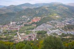 Wutai Mountain scenery. The landscape of Taihuai Town in Wutai Mountain, Shanxi, China Stock Image