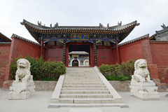Wutai Mountain in Shanxi Guanghua Temple gate house Stock Images