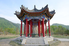 Wutai Mountain in Shanxi monument Pavilion Stock Photos