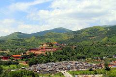 Wutai Mountain in Shanxi province, China Royalty Free Stock Images