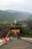 Wutai Mountain in Shanxi province, China Royalty Free Stock Photo