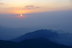Wutai Mountain sunrise Royalty Free Stock Image