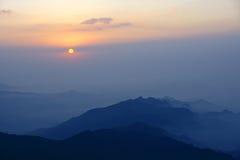 Wutai Mountain sunrise royalty free stock image