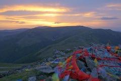 Wutai Mountain sunrise Royalty Free Stock Photos