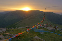 Wutai Mountain sunrise Stock Image
