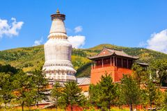 Wutaishan (góra Wutai) scena. Obrazy Royalty Free