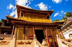 Wutaishan (góra Wutai) scena. Miedziana sala. Obrazy Royalty Free