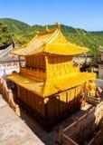 Wutaishan (góra Wutai) scena. Miedziana sala. Obrazy Stock