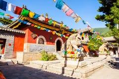 Wutaishan (góra Wutai) scena. Podwórze Luohou świątynia. Zdjęcie Royalty Free
