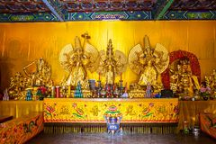 Wutaishan (góra Wutai) scena. Złocisty Buddh. Obrazy Stock