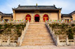 Wutaishan (góra Wutai) sceny Nanshan świątyni budynki. Obraz Royalty Free