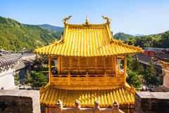 Wutaishan(Mount Wutai) scene. Copper hall. Stock Photo